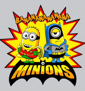 Minion Batman cuadrado