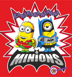 Bat Minion cuadrado