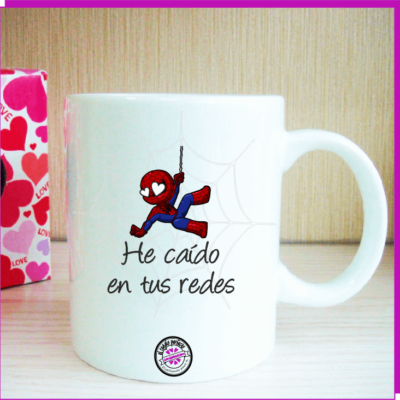 Taza original spiderman