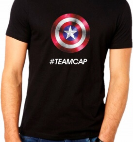 Camiseta Team Capitan America