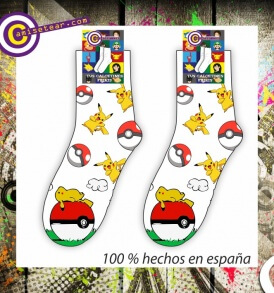 Calcetines Pikachu Pokemon