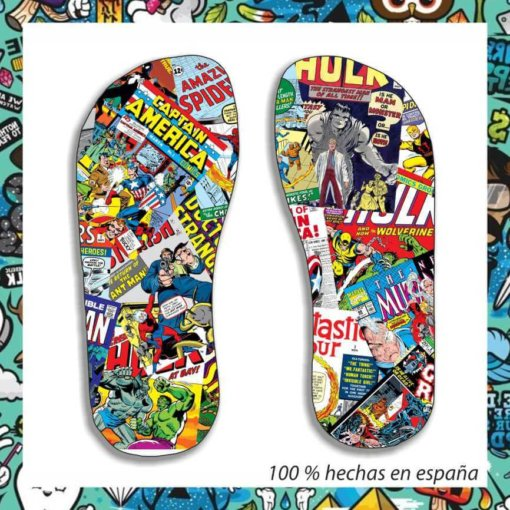 Chanclas comic marvel