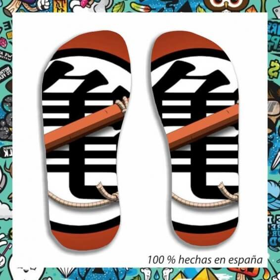 chanclas dragon ball bastón