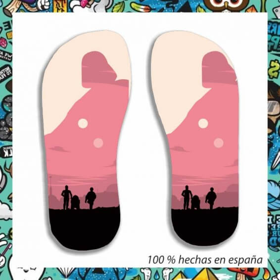 chanclas star wars foto