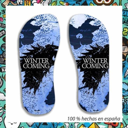 Chanclas Winter is coming mapa
