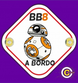 cartel bebé bb8 a bordo